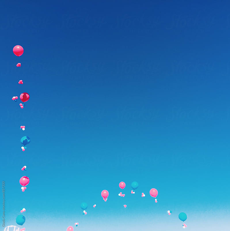 Balloons in the sky by Giada Canu for Stocksy United