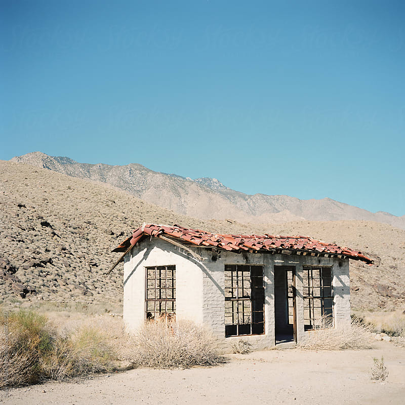 Palm Springs Abandoned Building by Dave Waddell for Stocksy United