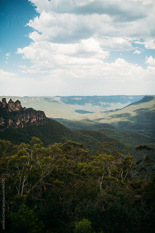The Three Sisters, Famous formation at The Blue Mountains by Leandro Crespi for Stocksy United