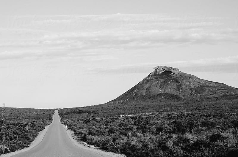 Straight Road and Frenchmans Peak by Adrian P Young for Stocksy United