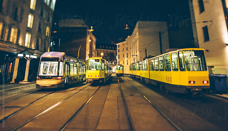 Yellow Trams in Berlin by Good Vibrations Images for Stocksy United