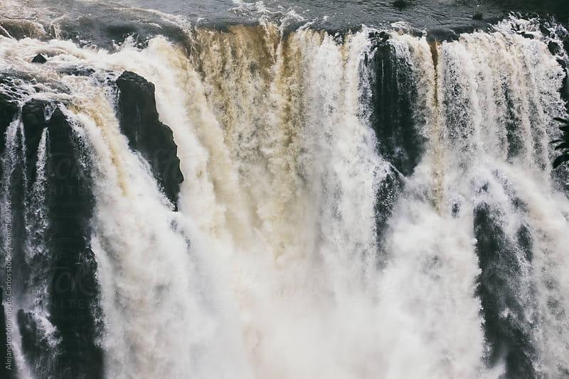Waterfall in Iguassu falls by Alejandro Moreno de Carlos for Stocksy United