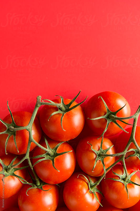 Red Tomatoes With Copyspace by Ronnie Comeau for Stocksy United