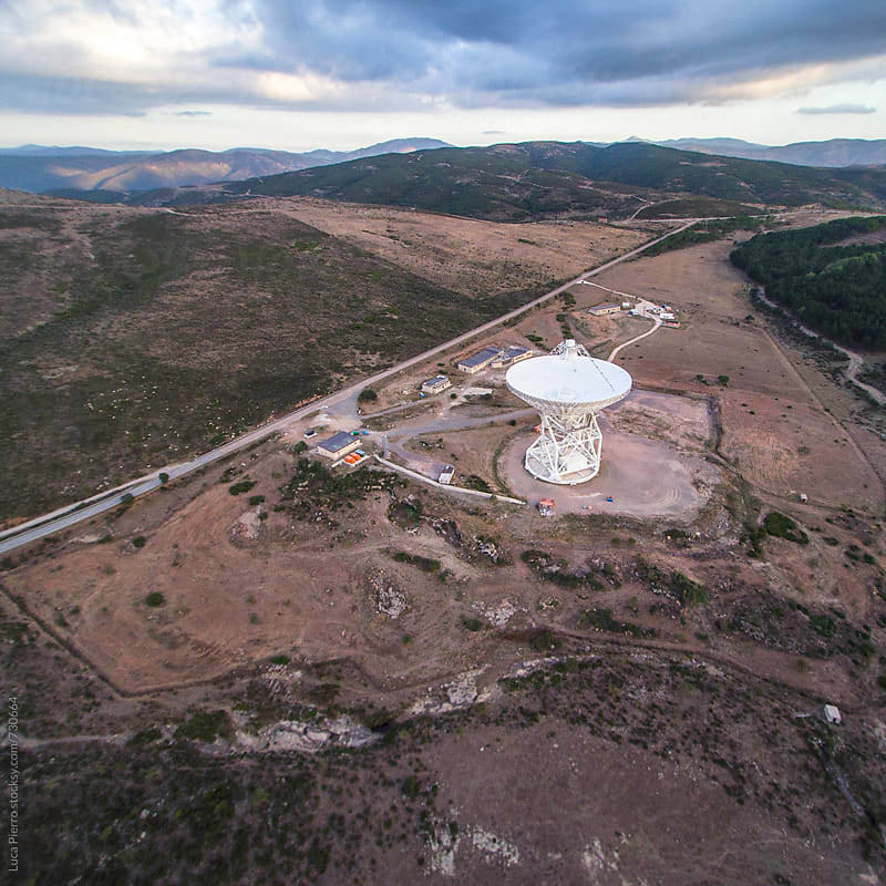 Large radio telescope  by Luca Pierro for Stocksy United