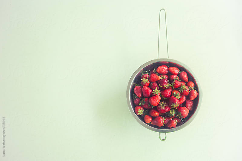 Strawberries in a Strainer by Lumina for Stocksy United