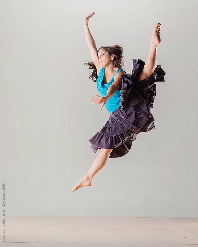 Split leap dancer by Anna-Marie Panlilio for Stocksy United