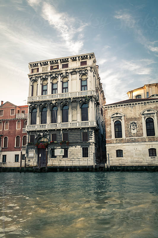 venetian house with the grand canal by Leander Nardin for Stocksy United