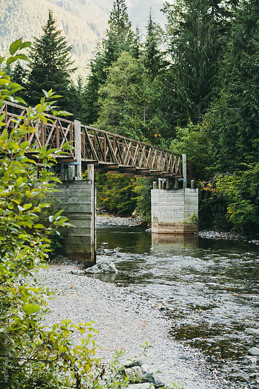 Bridge over a river in Hope, British Columbia, Canada. by kkgas for Stocksy United
