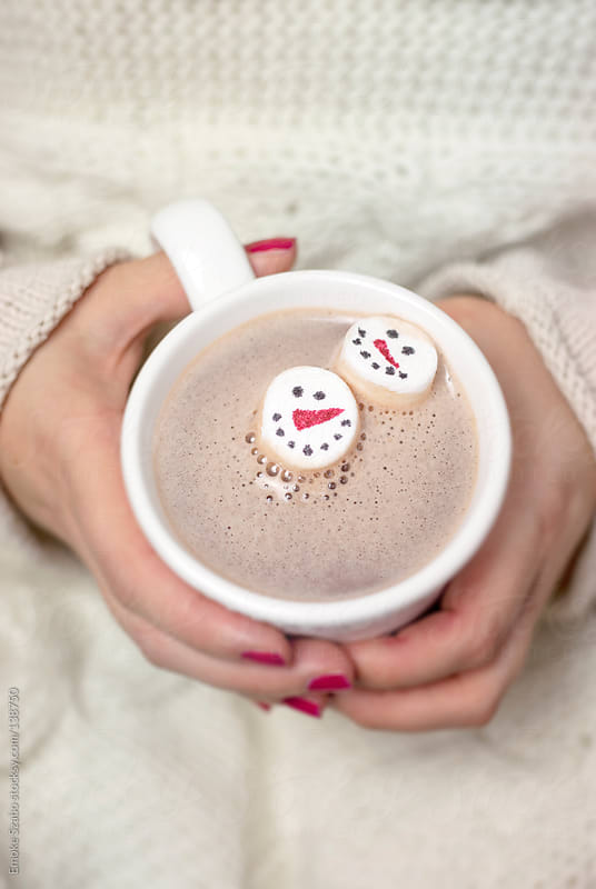 Hot chocolate and marshmallows by Emoke Szabo for Stocksy United