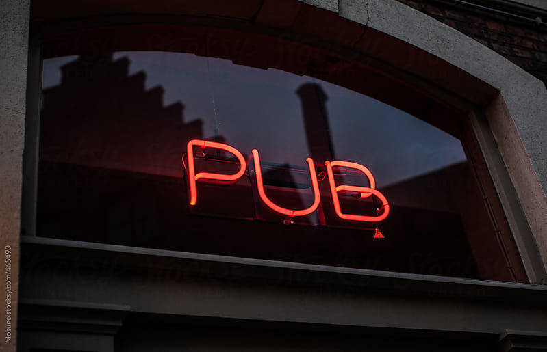 Neon Pub Sign  by Mosuno for Stocksy United