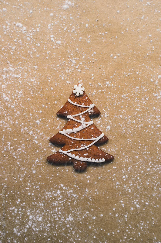 Gingerbread as christmas tree with sugar by Tomas Mikula for Stocksy United