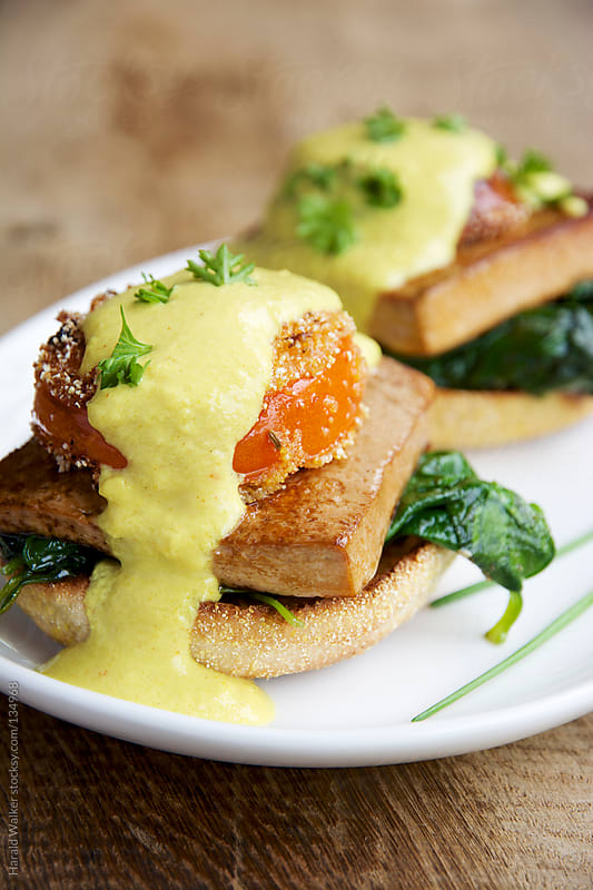 Tofu Benedict by Harald Walker for Stocksy United
