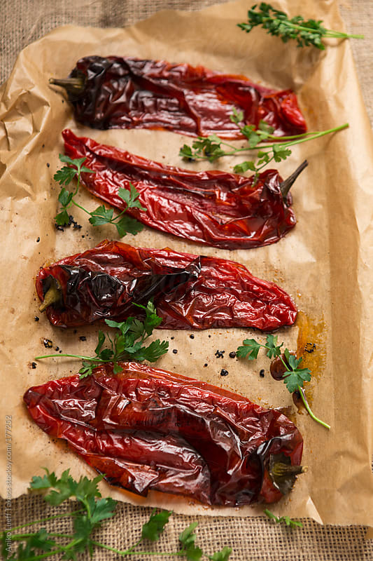 Roasted Red Peppers by Aniko Lueff Takacs for Stocksy United