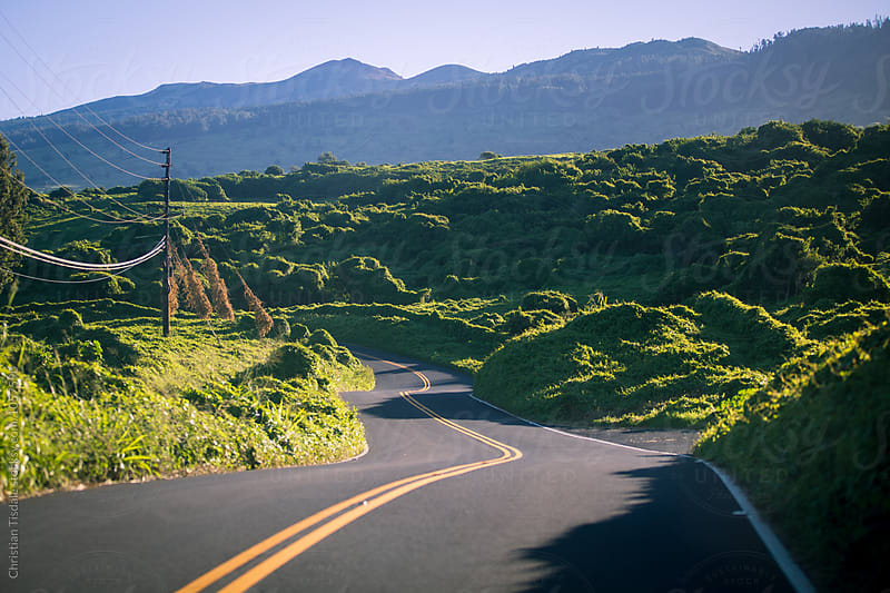 Winding Road in Hawaii by Christian Tisdale for Stocksy United