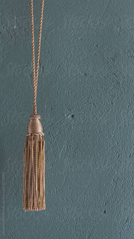 Don't hassle the tassle.  by Lawrence del Mundo for Stocksy United