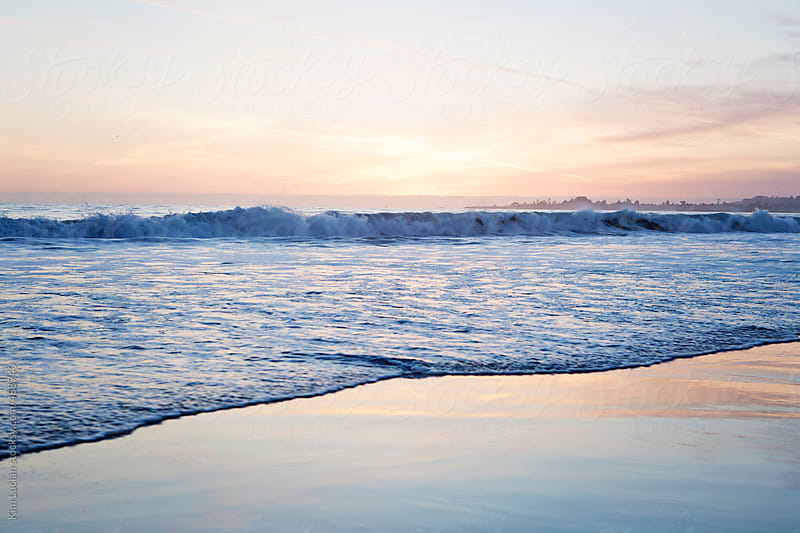 Beach at Sunset in Santa Cruz by Kim Lucian for Stocksy United