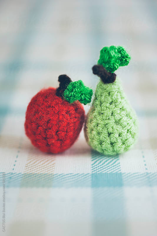 Amigurumi apple and pear by CACTUS Blai Baules for Stocksy United
