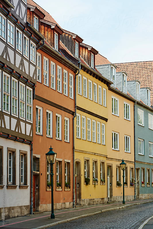 Row of houses in Hannover by Harald Walker for Stocksy United