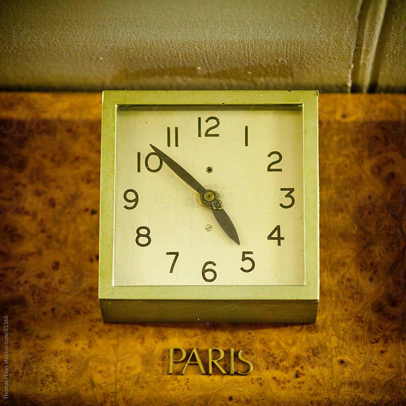 Old International Clock by Thomas Hawk for Stocksy United