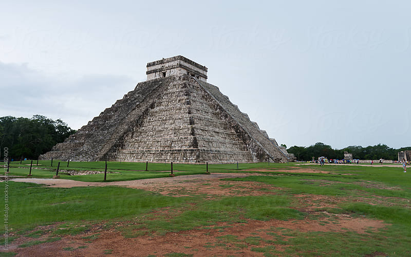 View of Chichen Itza stepped pyramid built by the Mayans by Emmanuel Hidalgo for Stocksy United