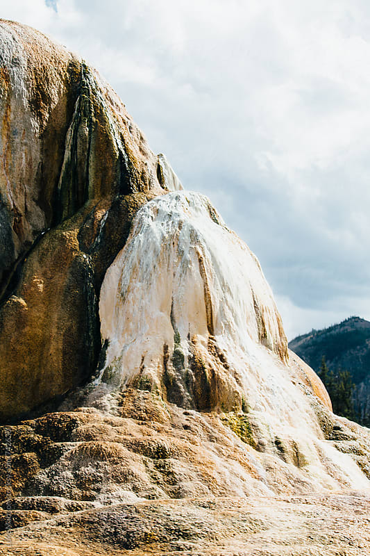 Crystallized Calcium Carbonate Formation At Mammoth Hot Springs by Luke Mattson for Stocksy United