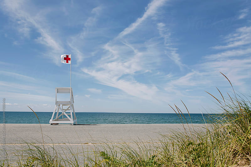 Life Guard Stand at Race Point Beach Provincetown by Raymond Forbes LLC for Stocksy United