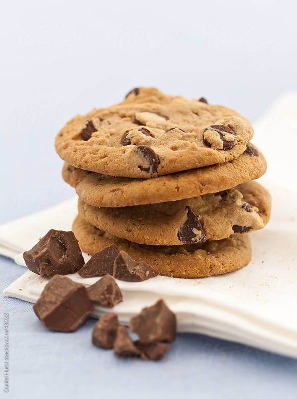 Chocolate chip cookies by Daniel Hurst for Stocksy United