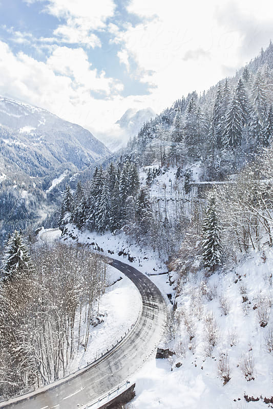 Road to Chamonix by Michael Overbeck for Stocksy United