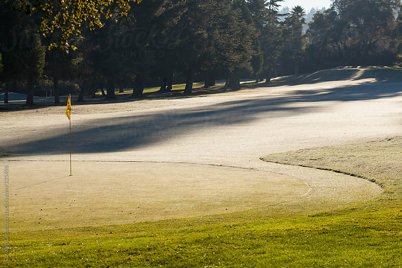 Empty golf course on a cold, winter day by Carolyn Lagattuta for Stocksy United