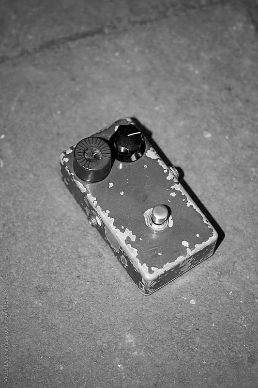 Guitar pedal by Victor Deschamps for Stocksy United