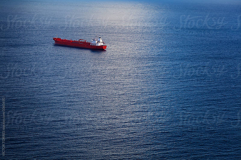 Chemical Tanker in the Atlantic Ocean by VICTOR TORRES for Stocksy United