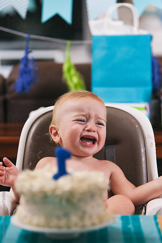Birthday: Upset Toddler Crying At Party by Sean Locke for Stocksy United