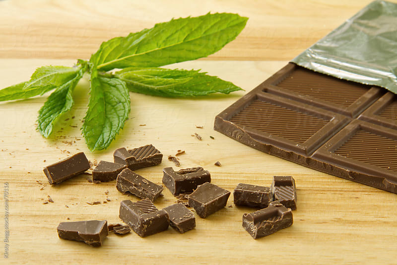 Chocolate and Mint leaves by Kirsty Begg for Stocksy United