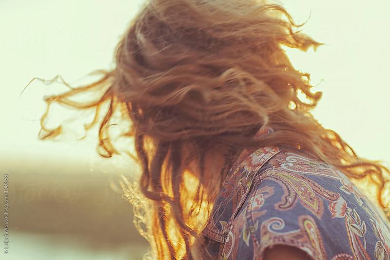 Young Hippie Enjoying Summer Sunset by Marija Savic for Stocksy United