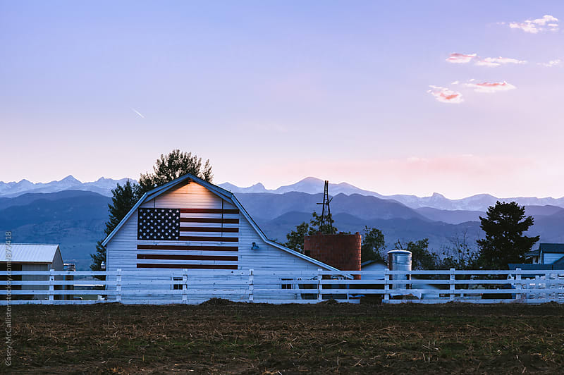 American Flag Barn by Casey McCallister for Stocksy United