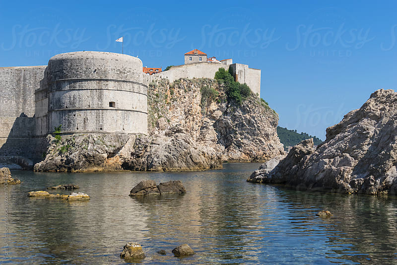 Dubrovnik, Croatia - Medieval City Walls as Seen from the Sea Side by Tom Uhlenberg for Stocksy United