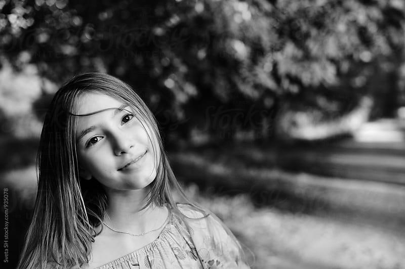Portrait of teen girl by Svetlana Shchemeleva for Stocksy United