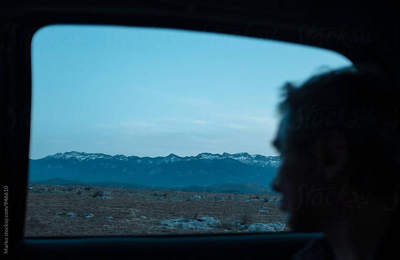 View through the window of car by Marko Milovanović for Stocksy United