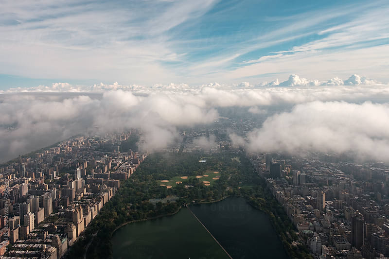 Above Central Park Looking North to Harlem by Riley Joseph for Stocksy United