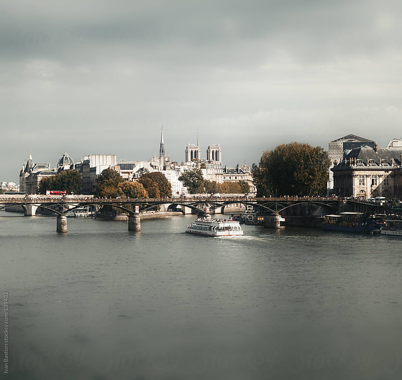Ile de la Cite and River Seine in Paris, France by Ivan Bastien for Stocksy United