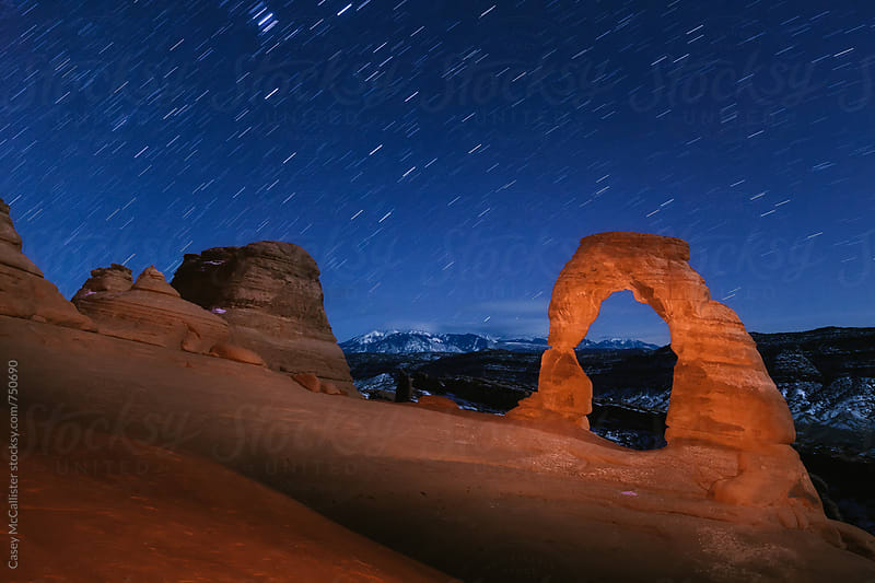 Delicate Arch at Night by Casey McCallister for Stocksy United