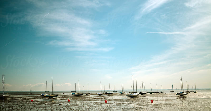 Low tide in the Thames estuary by kkgas for Stocksy United