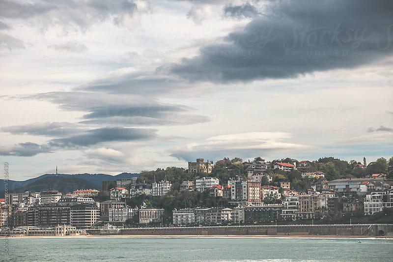 Views of San sebastian beach.  by BONNINSTUDIO for Stocksy United