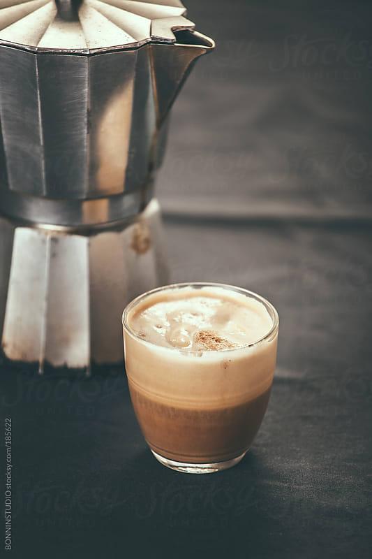 Vanilla ice cream coffee. by BONNINSTUDIO for Stocksy United