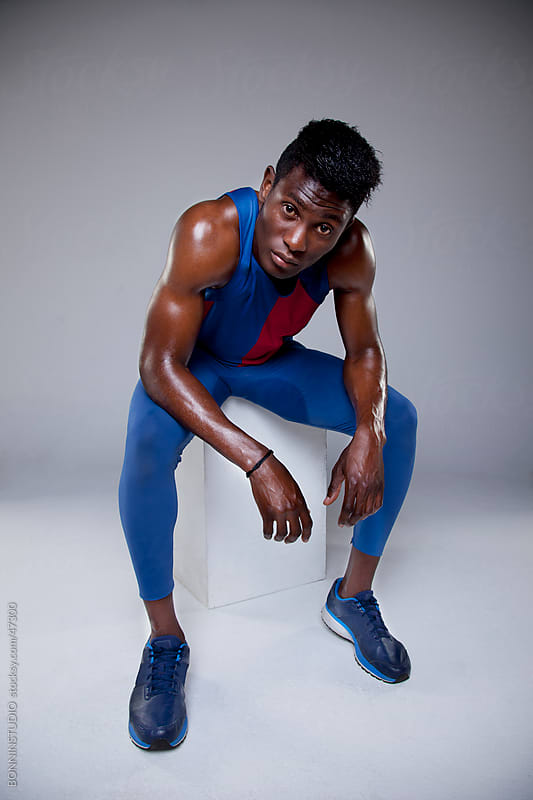Portrait of an african athlete by BONNINSTUDIO for Stocksy United