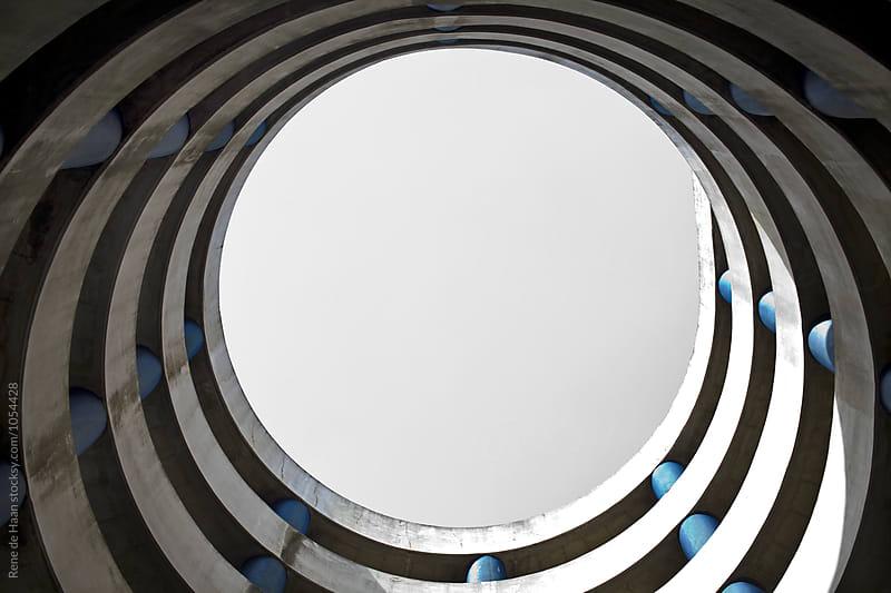 Ramp Spiral in Parking Lot by Rene de Haan for Stocksy United