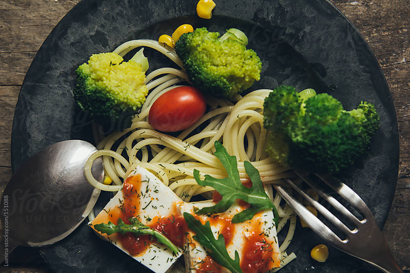 Spaghetti With Cheese by Lumina for Stocksy United