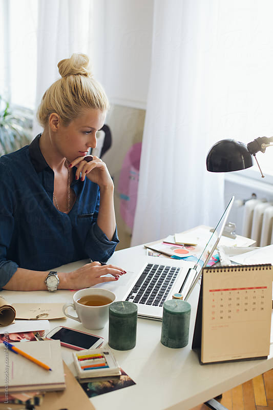 Home Business: Businesswoman at Her Laptop by Lumina for Stocksy United