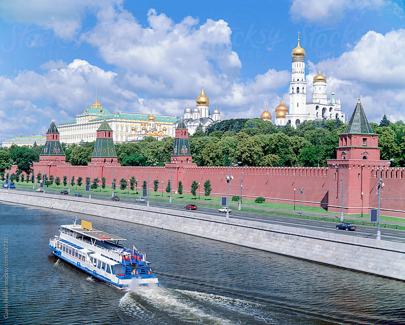 View over the Kremlin and the Moskva river, Moscow, Russia, Europe by Gavin Hellier for Stocksy United