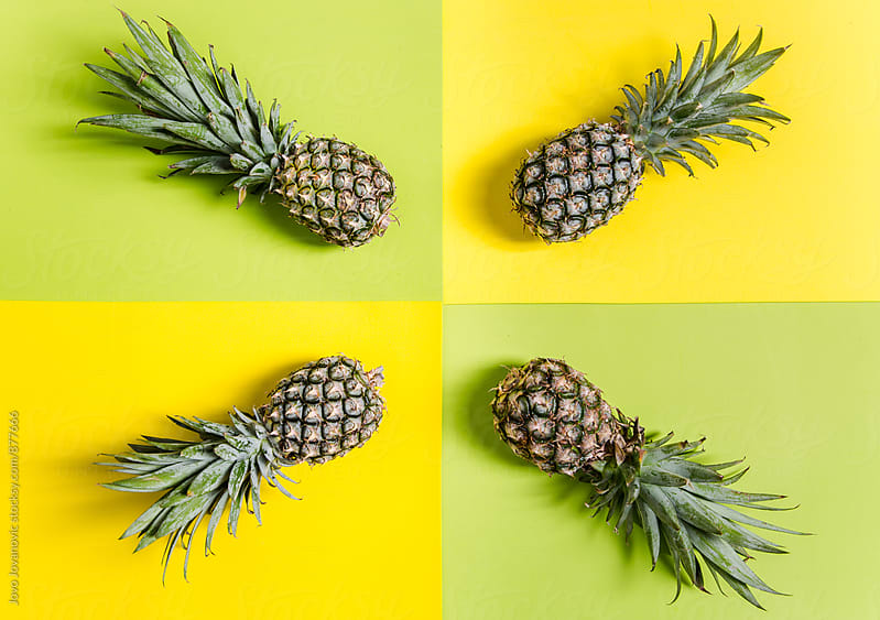 Pineapple simple background  by Jovo Jovanovic for Stocksy United